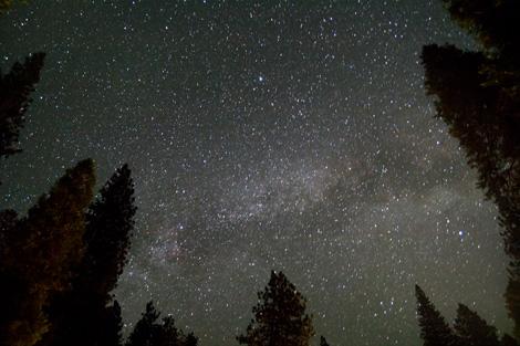 自然豊かで星空が見えるエリア、運が良ければ流れ星も...!