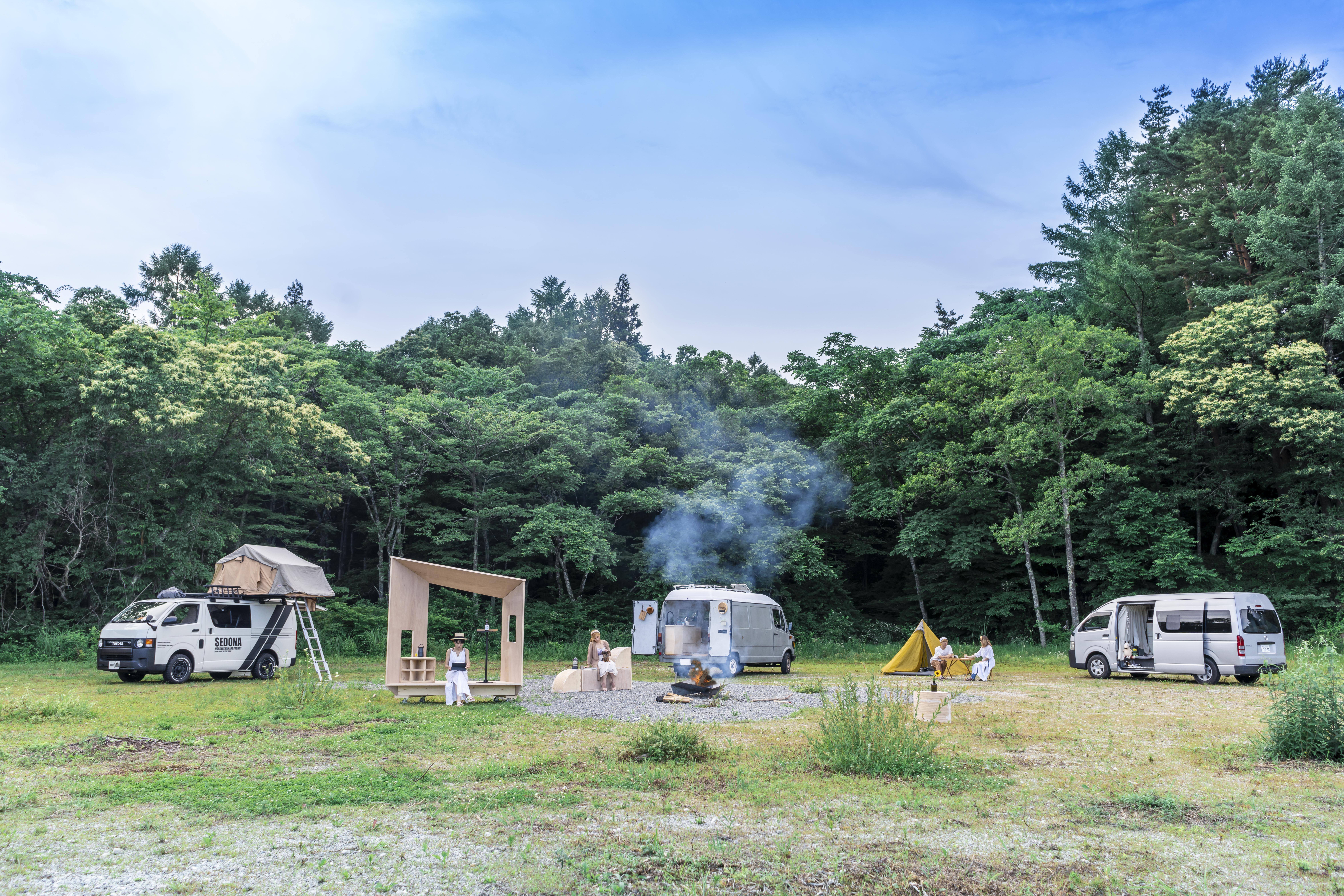 オートキャンプ場(※写真は開発中のものであり実際とは異なる場合があります)