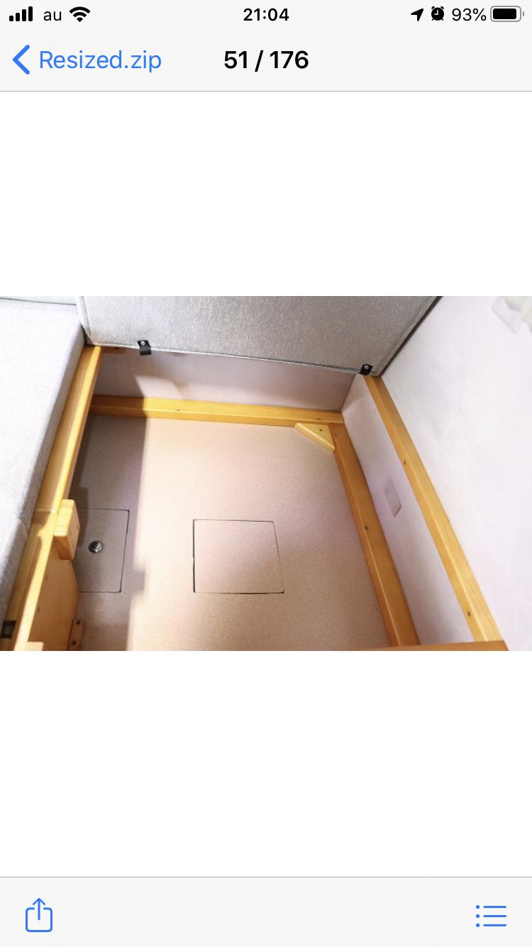 (12)内観(座席下収納スペース)