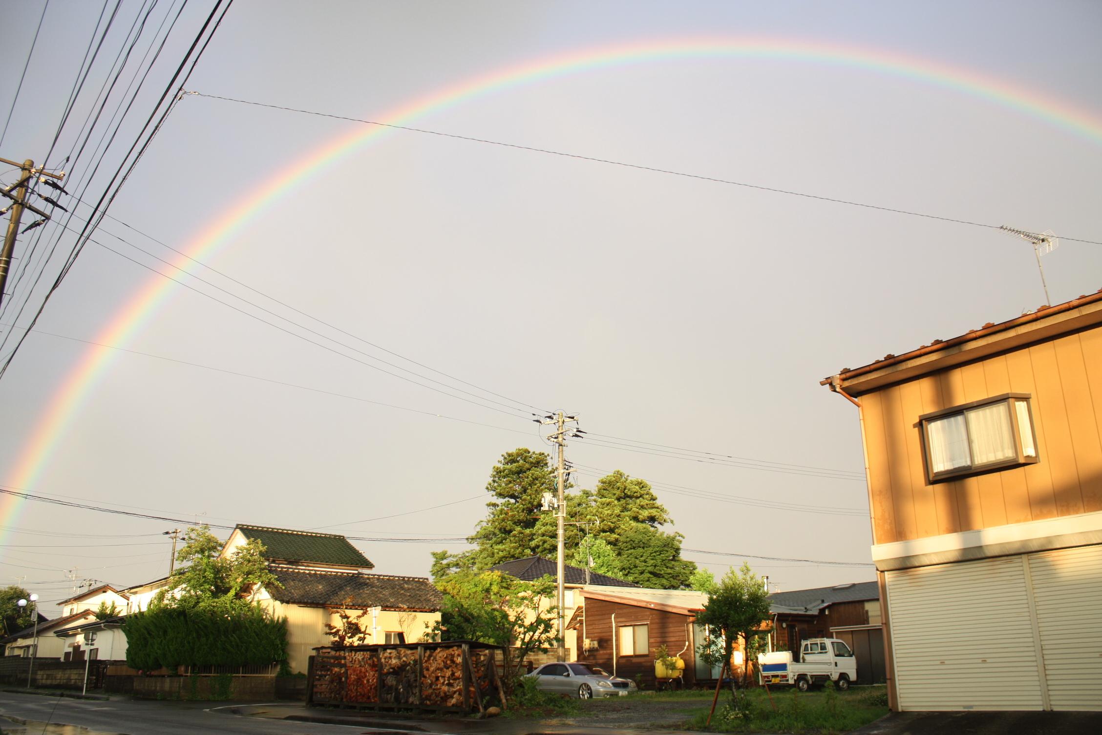 でっかい虹が出ました。