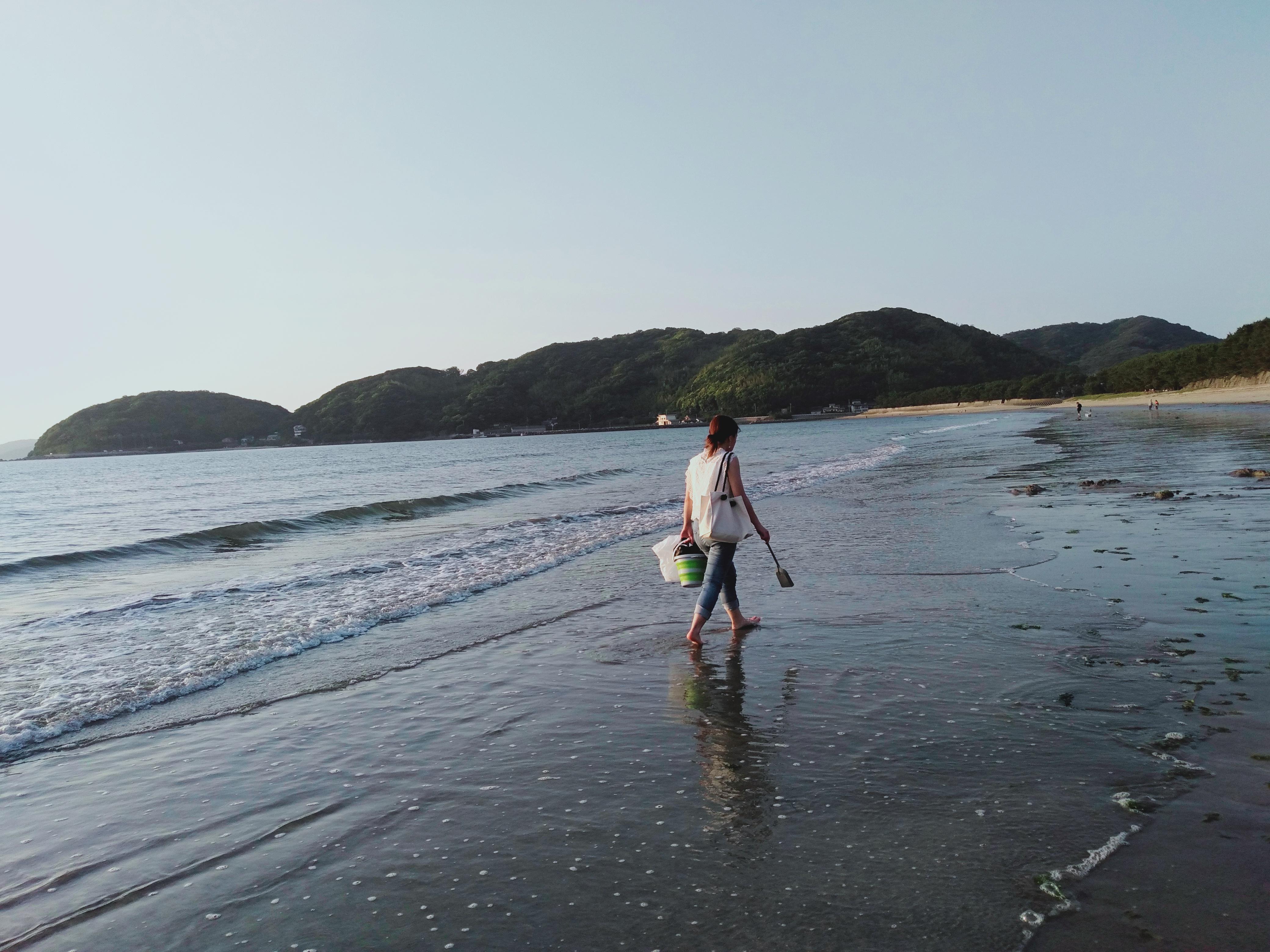 深江海水浴場(遠浅)美しいサンセット+星空
