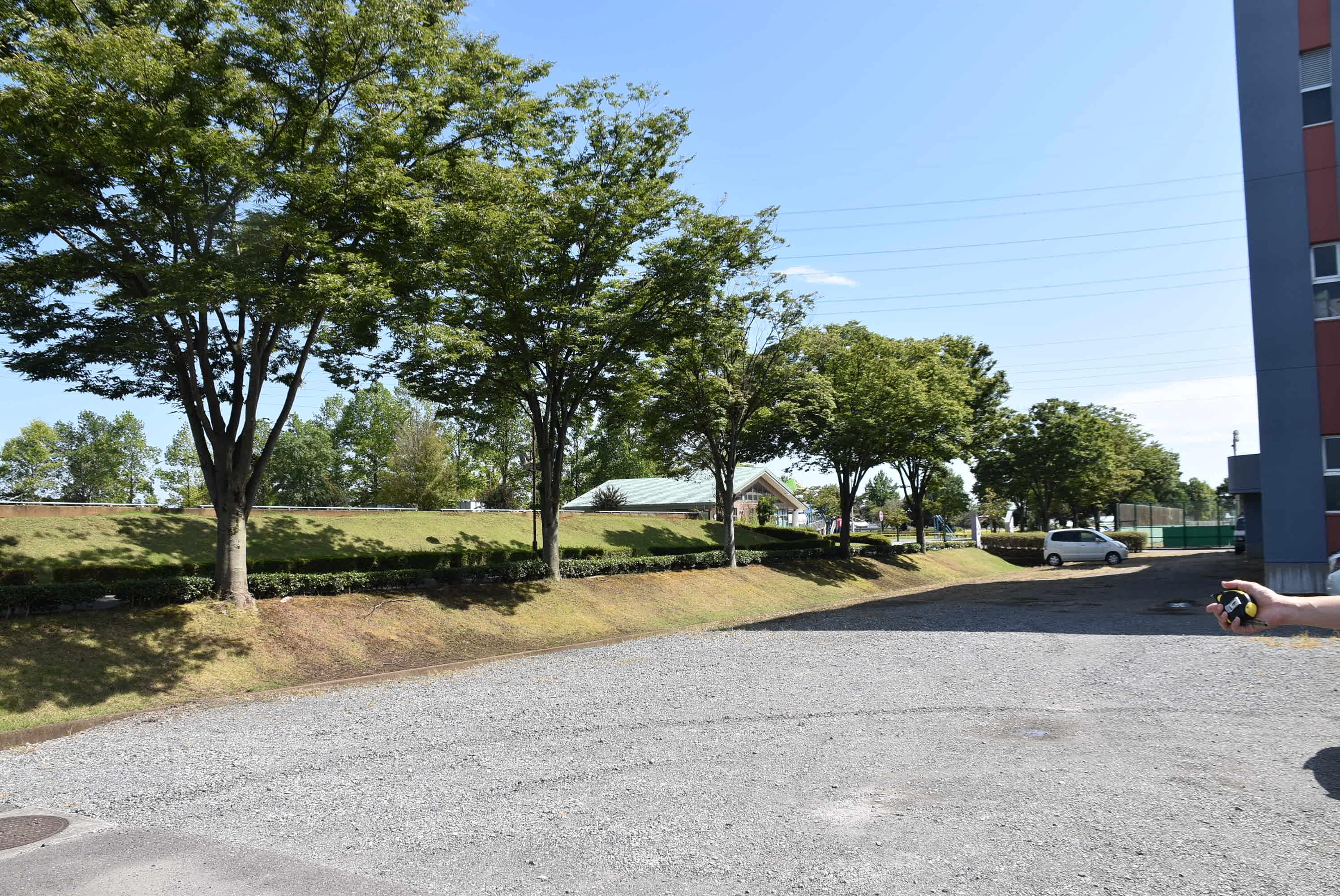 町立武道館横のこちらのスペースも利用OKです。