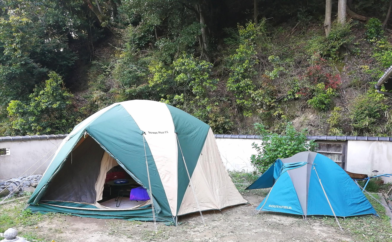常設貸し出しテント