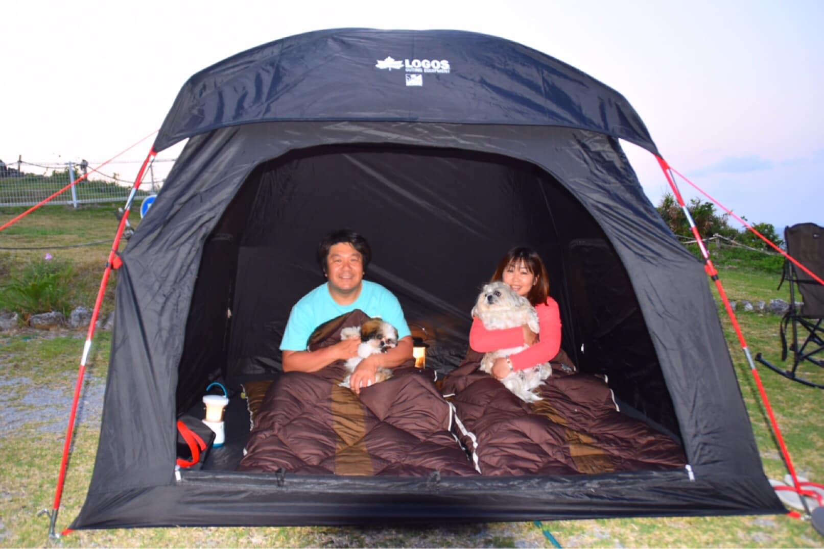 LOGOS社製のテント(2~3名就寝)も貸し出し可能です。