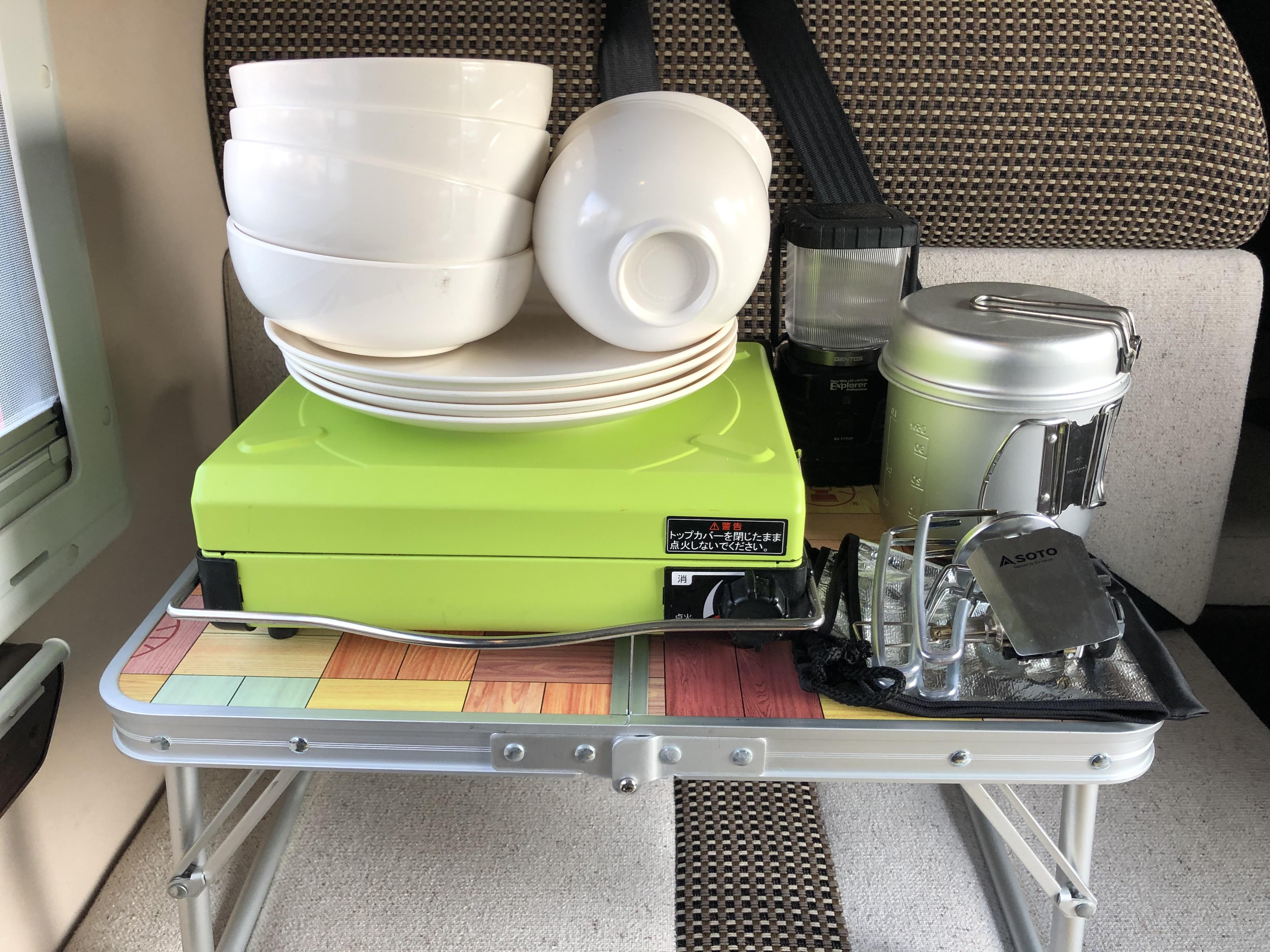 車内備品 充電電池式ランタン カセットコンロ バーナー ご利用の際はカセットボンベをご持参下さい。