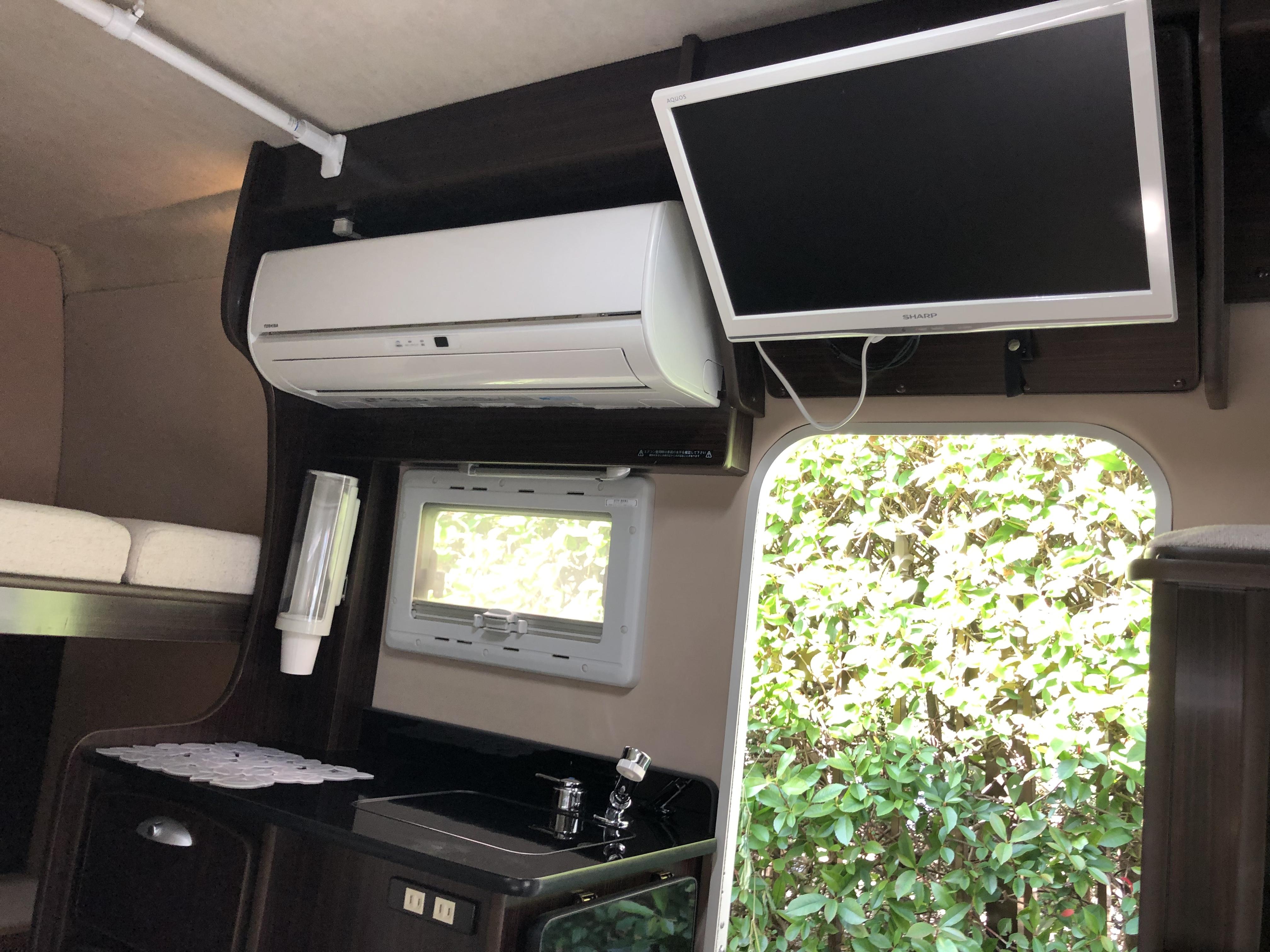 家庭用冷暖房エアコン ご利用は外部電源or発電機回して使用可能