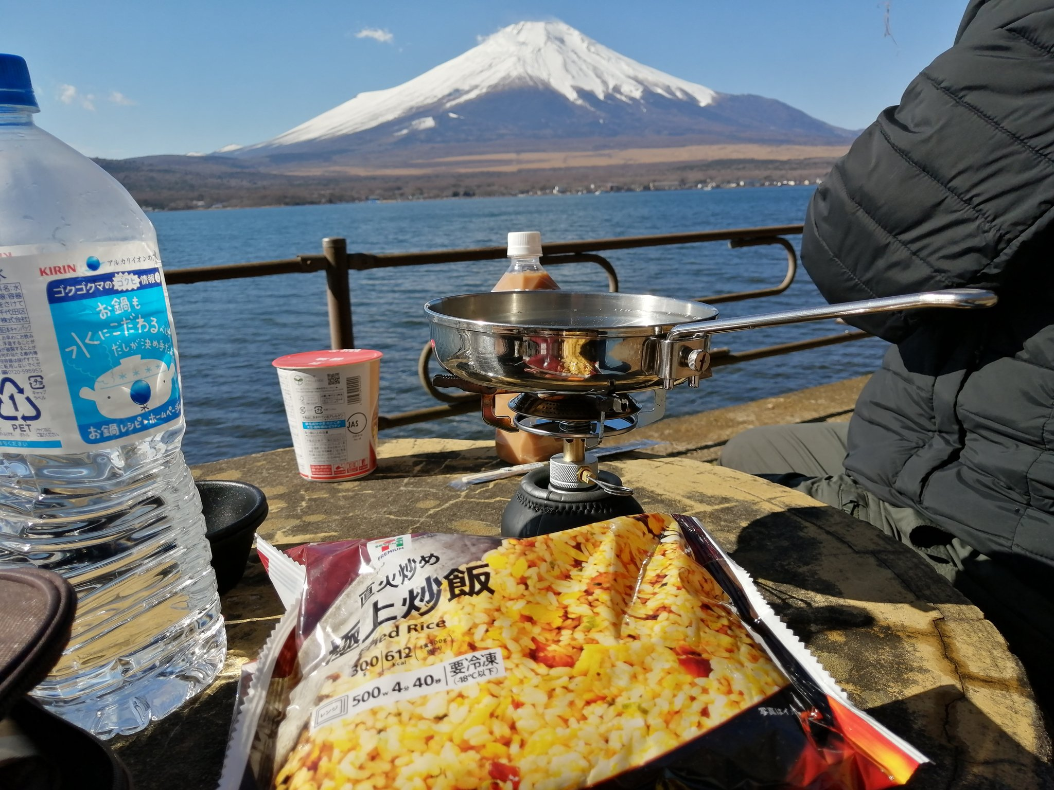 富士山を見ながら食べれば何でも絶品です