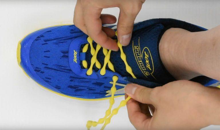 キャタピラン 靴への通し方動画