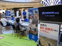 写真:三井不動産株式会社でのキャンペーンの模様