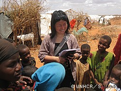 エチオピアのドロアド難民キャンプで現地調査