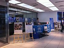 写真:SONYビルでのキャンペーンの模様