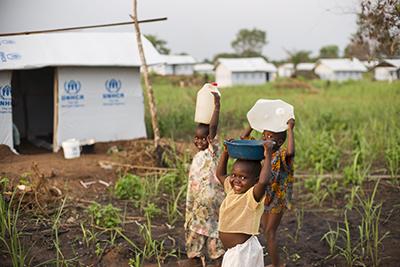 コンゴ難民の子供たち