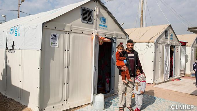 写真:シェルターに暮らす難民の様子
