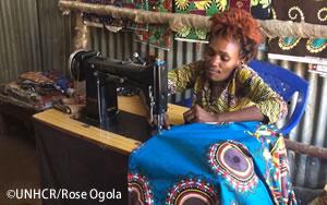 障がいのあるコンゴの仕立人がケニアで新しい人生を縫う