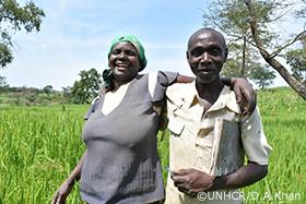 写真:コンゴ難民の夫婦
