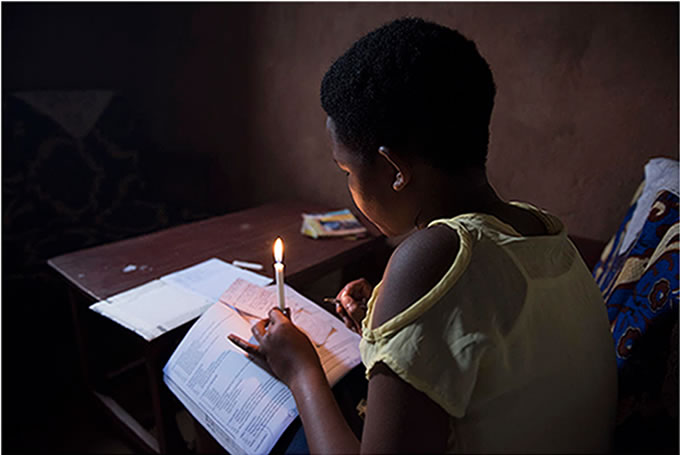 キラクンダ16歳。暗くなると勉強ができません