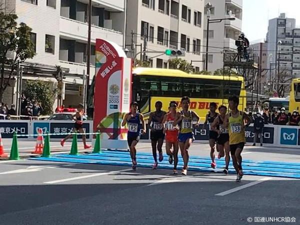 東京マラソン折り返しの様子