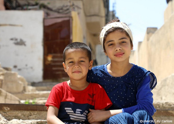 シリア難民の姉弟