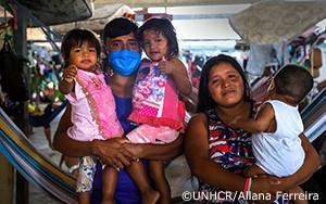 新型コロナウイルス感染症が大打撃をもたらしているブラジルで、UNHCRは難民と受け入れコミュニティへの支援を拡大