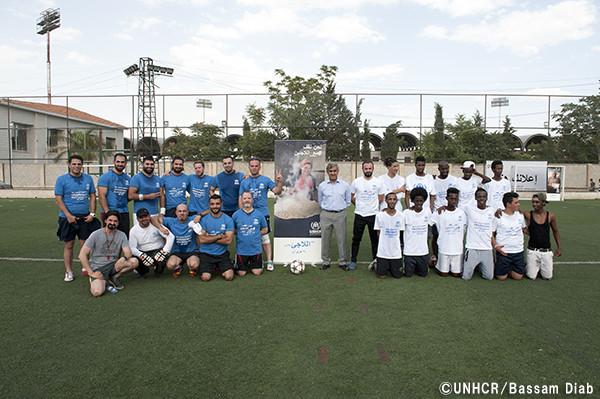 写真:シリアのサッカー大会