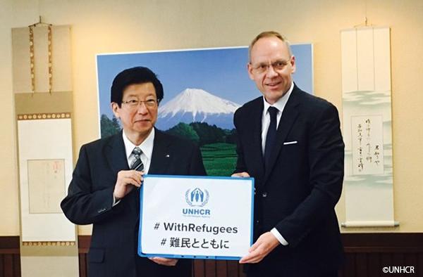 写真:静岡県知事とダーク・ヘベカー駐日代表
