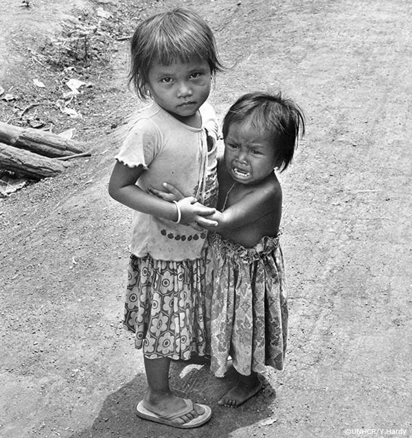 カンボジア難民の写真