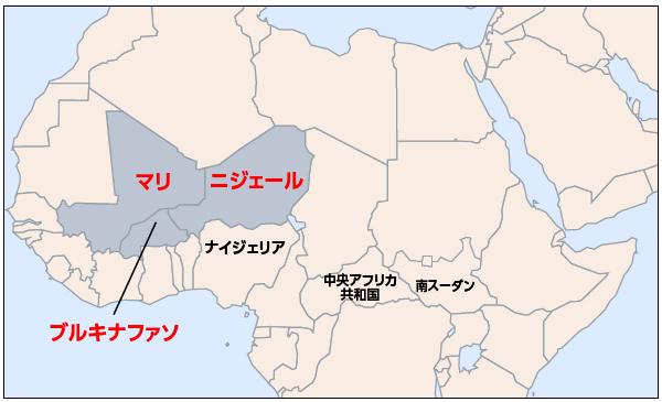 サヘル地域地図
