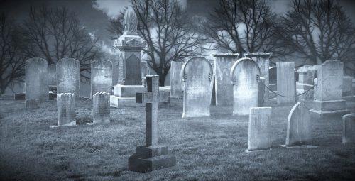 モスマン、目撃、墓地