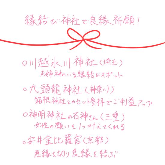 縁結び神社 ライターメモ