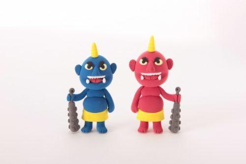 赤鬼と青鬼の人形