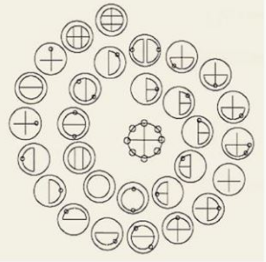 カタカムナはカタカムナ文字で記されている