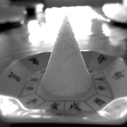 盛り塩を置いた後