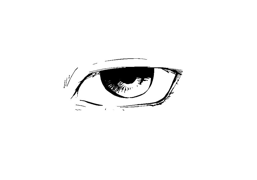 上三白眼の図