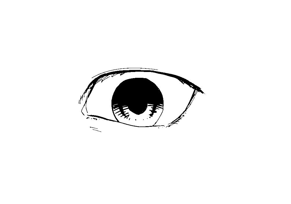 下三白眼の図