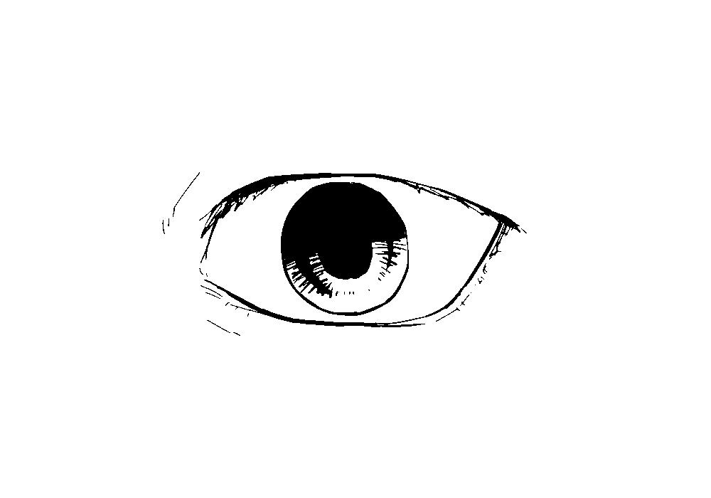 四白眼の図