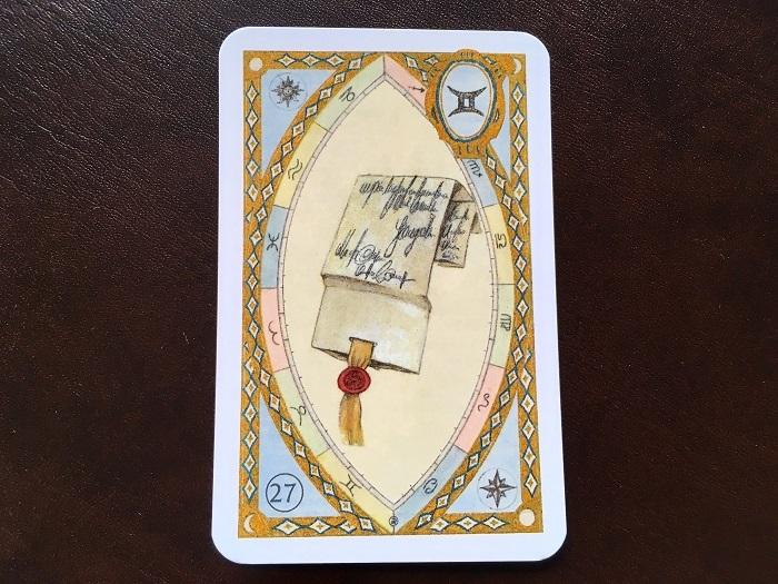 ルノルマンカード・手紙はどんな意味のカード?