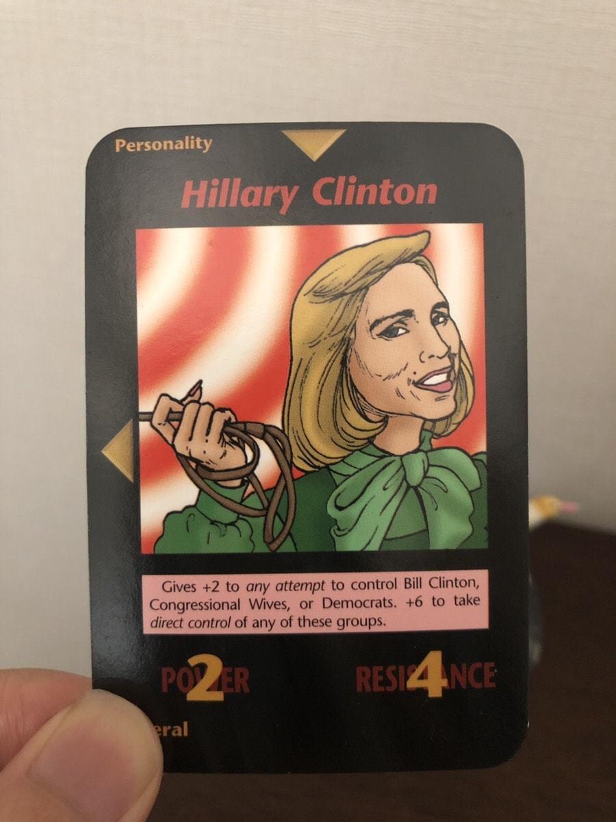 イルミナティ―カード ヒラリークリントン