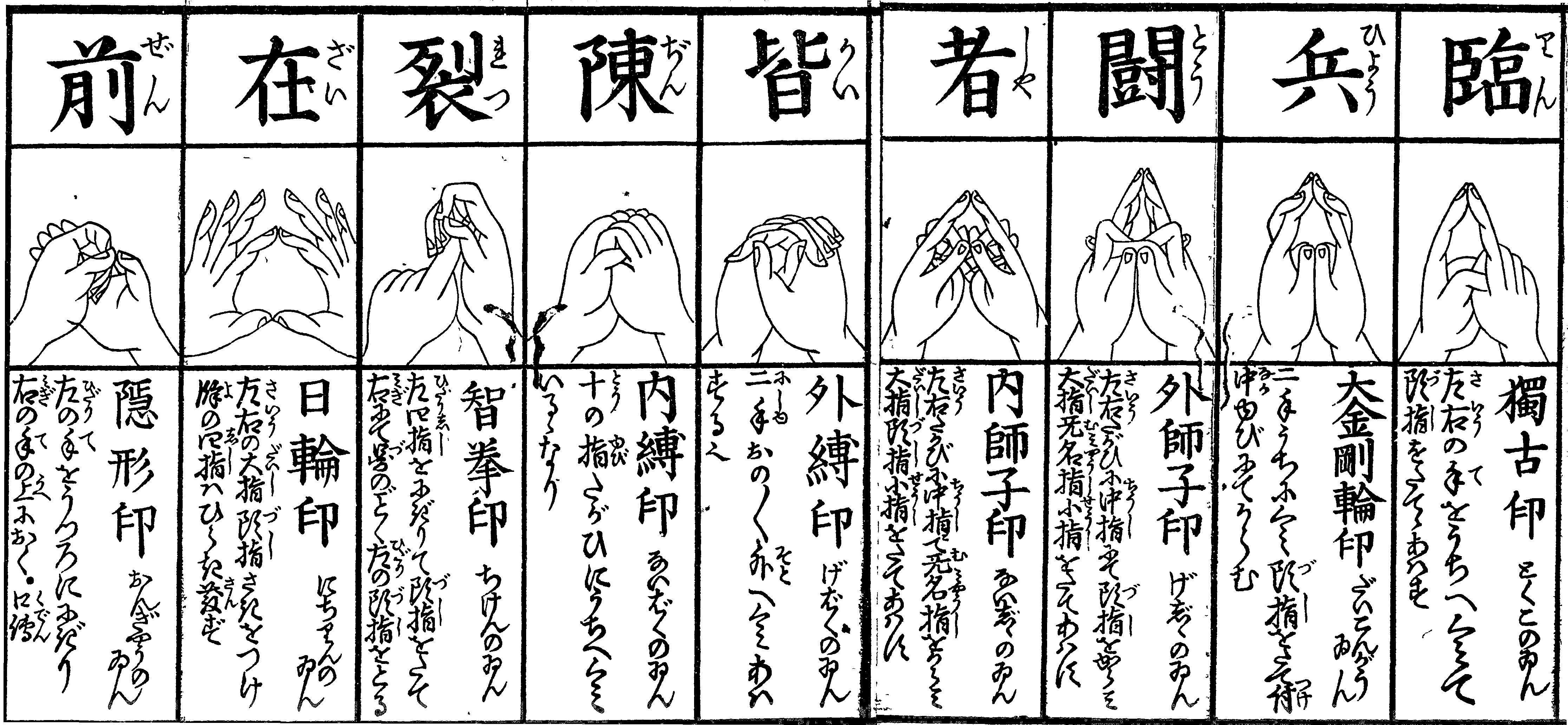 九字護身法の印