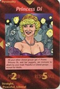 イルミナティカードのダイアナ妃