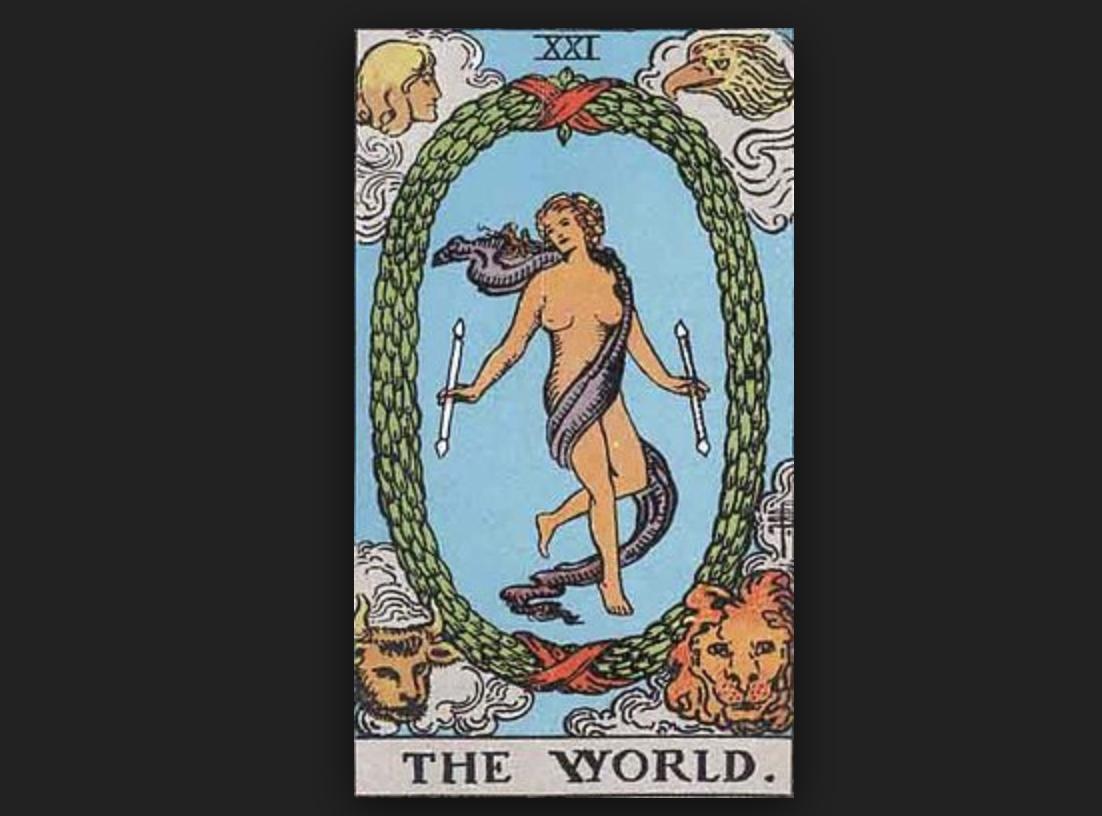 タロットカード・リーディング 「世界」(ザ・ワールド)を読み解く