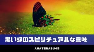 黒い蝶は不吉の象徴?幸運のサイン?│黒い蝶のスピリチュアルな意味5つ