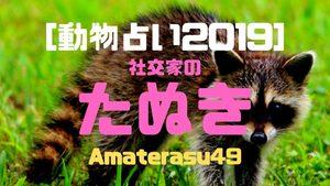 【動物占い2019】<2社交家のたぬき>の性格・特徴・恋愛運・仕事運と他の動物との相性を解説!