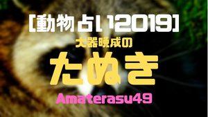 【動物占い2019】<41 大器晩成のたぬき>の性格・特徴・恋愛運・仕事運と他の動物との相性を解説!