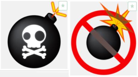 LINEの丸型アイコンはボールや果物などが人気ですが、おもしろい/ウケる画像にしたいなら、爆弾がおすすめです。シンプルな爆弾の画像から星条旗柄の爆弾、ドクロ入り
