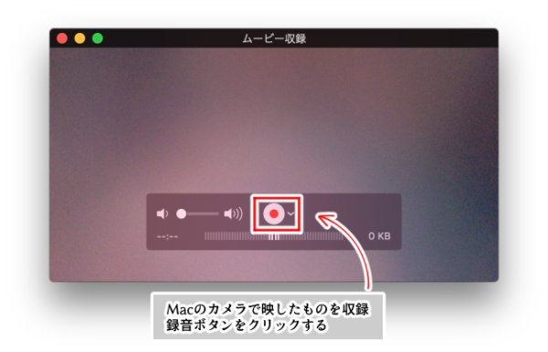 Mac・QuickTime Player(ムービー収録)画面