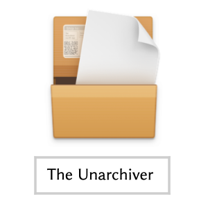 Mac・The Unarchiver(アイコン)画面
