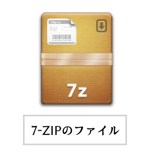 Mac・The Unarchiver(7-Zipのファイルアイコン)画面