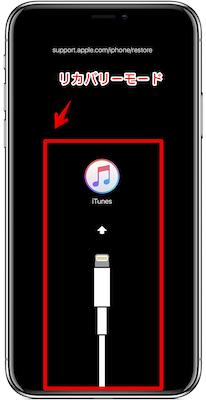 iPhone>リカバリーモード画面