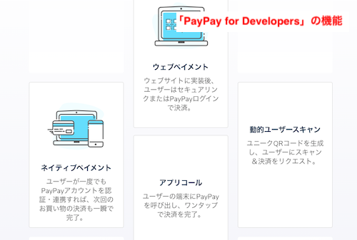 「PayPay for Developers」の機能