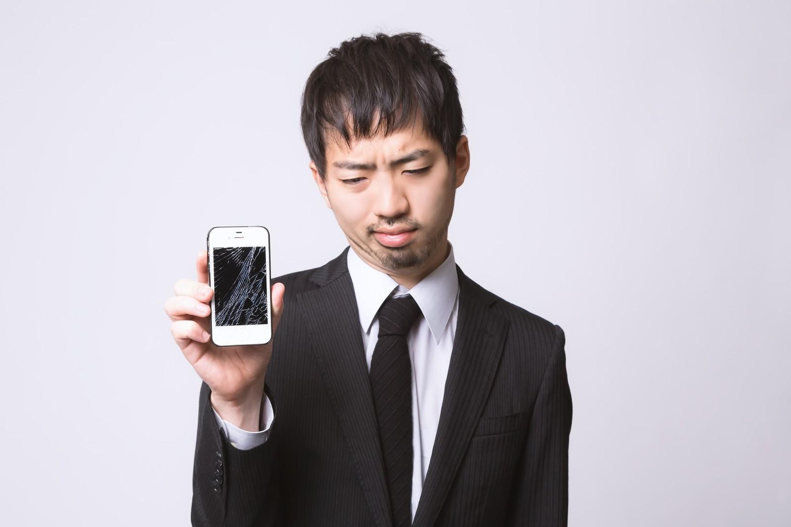 iPhoneのひび割れ